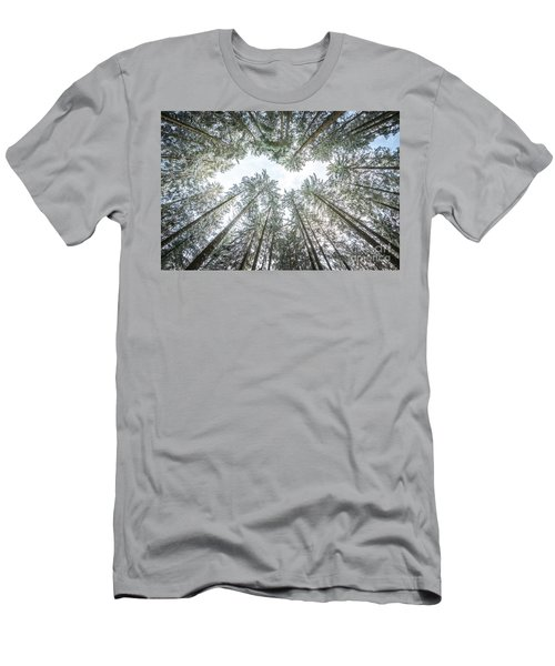 Men's T-Shirt (Slim Fit) featuring the photograph Looking Up In The Forest by Hannes Cmarits