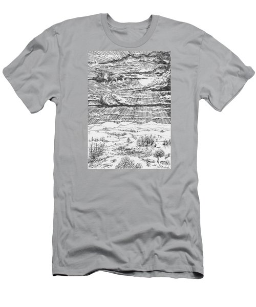 Looming Snowstorm Men's T-Shirt (Slim Fit) by Charles Cater