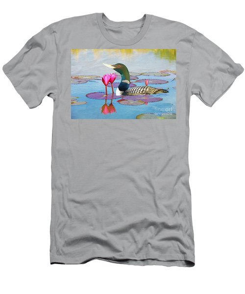 Loon And Lotus Men's T-Shirt (Athletic Fit)