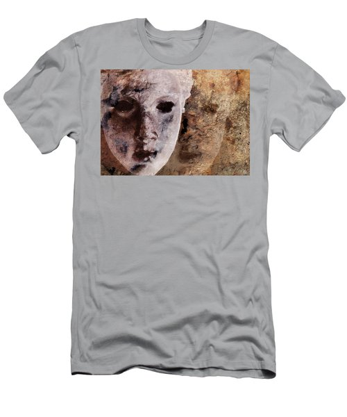 Men's T-Shirt (Slim Fit) featuring the digital art Loosing The Real You Behind The Mask by Gun Legler
