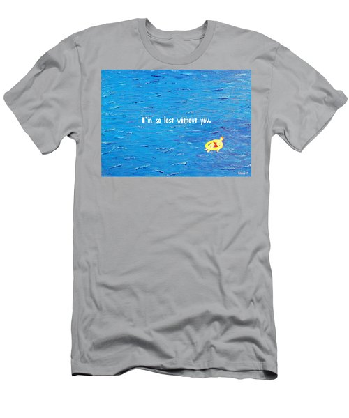 Lost Without You Greeting Card Men's T-Shirt (Athletic Fit)