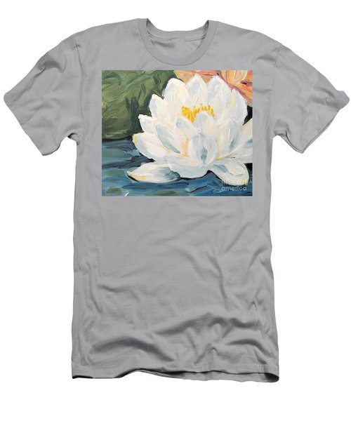 Men's T-Shirt (Athletic Fit) featuring the painting Lotus by Maria Langgle