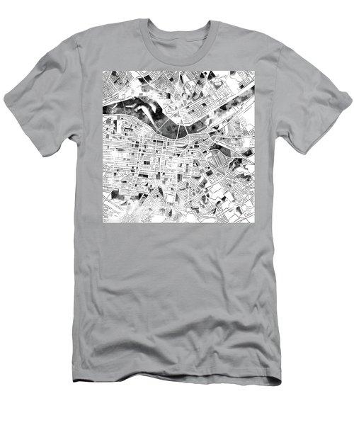 Louisville Kentucky City Map Men's T-Shirt (Athletic Fit)
