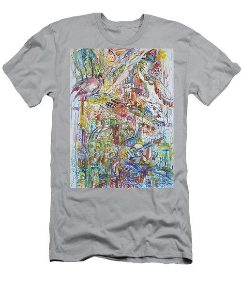 Love And Music Men's T-Shirt (Slim Fit) by Rita Fetisov