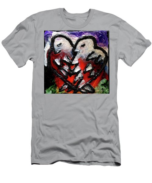 Men's T-Shirt (Slim Fit) featuring the painting Love Birds by Genevieve Esson
