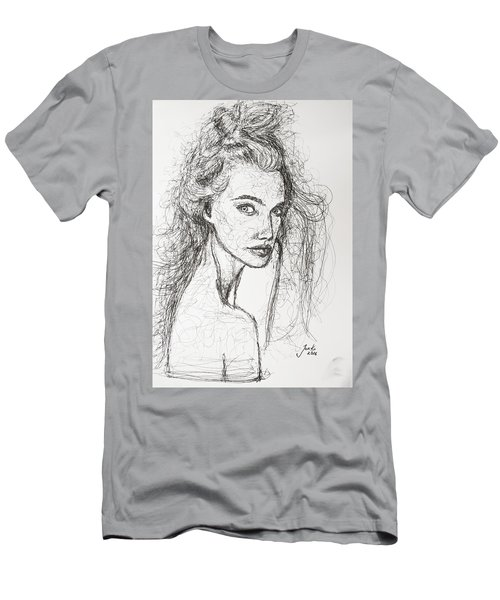 Men's T-Shirt (Slim Fit) featuring the drawing Love Is A Many-splendored Thing by Jarko Aka Lui Grande