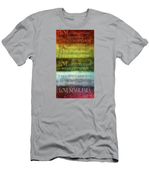 Men's T-Shirt (Slim Fit) featuring the digital art Love Is  by Angelina Vick