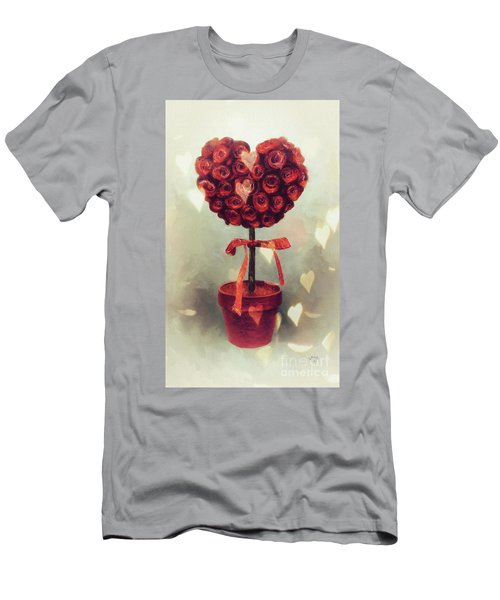 Men's T-Shirt (Slim Fit) featuring the digital art Love Is In The Air by Lois Bryan