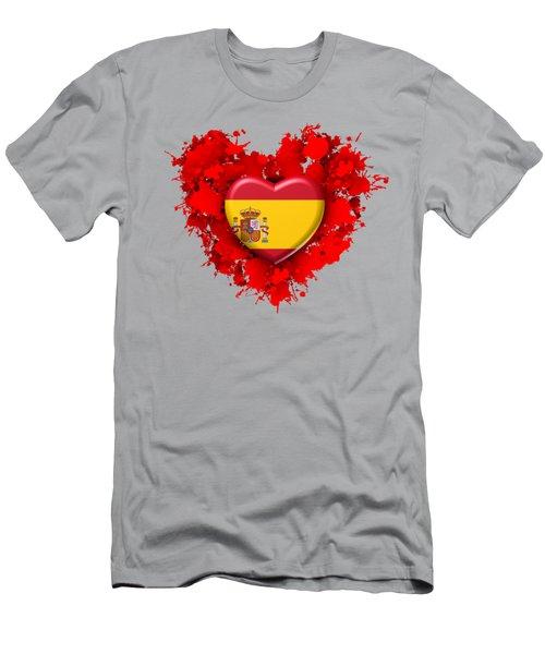 Love Spain 1 Men's T-Shirt (Slim Fit) by Alberto RuiZ