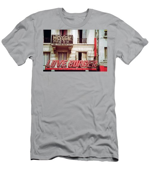 Men's T-Shirt (Athletic Fit) featuring the photograph Loveburger Hotel by Frank DiMarco