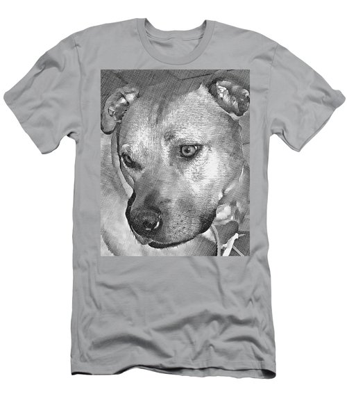 Lovely Dog Men's T-Shirt (Athletic Fit)