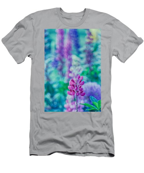 Lovely Lupine Men's T-Shirt (Slim Fit) by Bonnie Bruno
