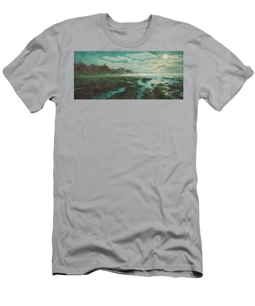 Low Tide At Moonlight Men's T-Shirt (Athletic Fit)