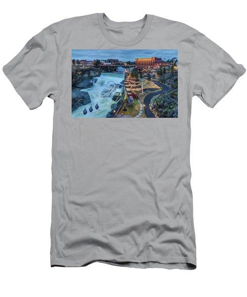 Lower Spokane Falls Early Spring Men's T-Shirt (Athletic Fit)