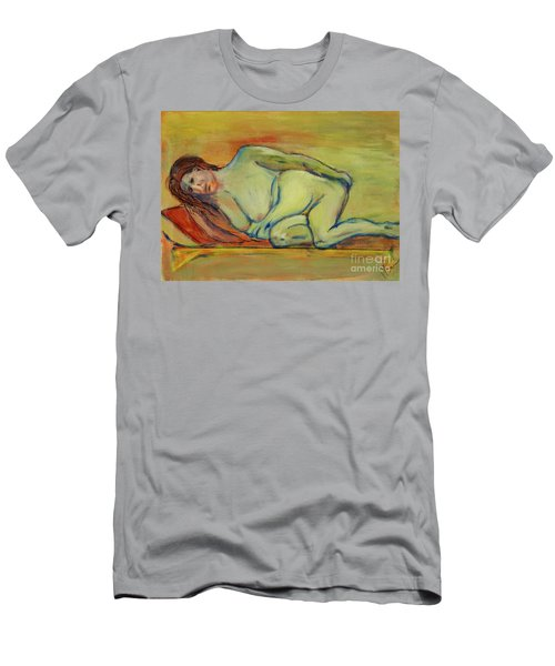 Men's T-Shirt (Slim Fit) featuring the painting Lucien Who? by Paul McKey