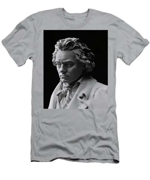 Men's T-Shirt (Slim Fit) featuring the mixed media Ludwig Van Beethoven by Daniel Hagerman