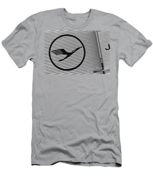 Lufthansa Emblem On Ju-52 Men's T-Shirt (Athletic Fit)