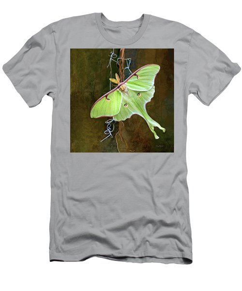 Men's T-Shirt (Slim Fit) featuring the digital art Luna Moth by Thanh Thuy Nguyen