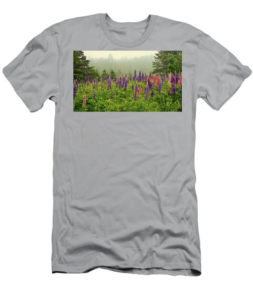 Lupins In The Mist Men's T-Shirt (Athletic Fit)