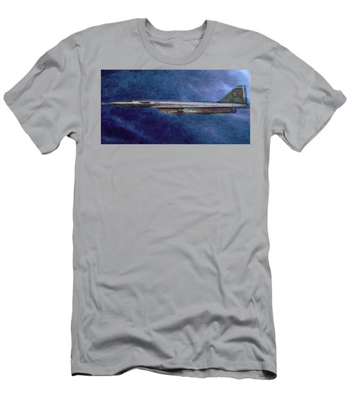 Men's T-Shirt (Slim Fit) featuring the painting M50 Myasishchev  by Michael Cleere