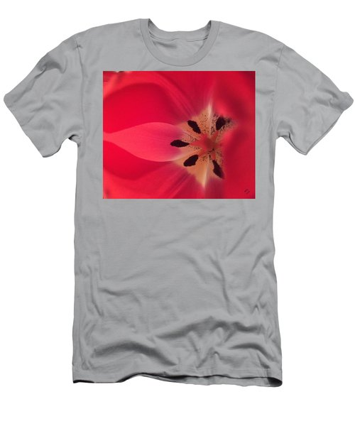 Macro Beauty Tulip Men's T-Shirt (Athletic Fit)