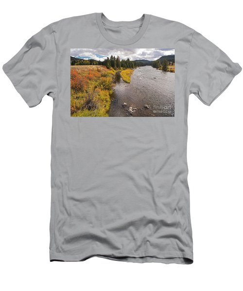 Madison River Men's T-Shirt (Slim Fit) by Cindy Murphy - NightVisions