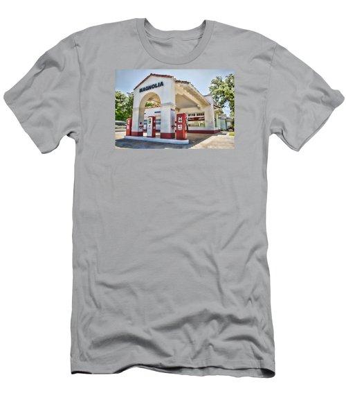 Magnolia Gas - Little Rock Men's T-Shirt (Athletic Fit)