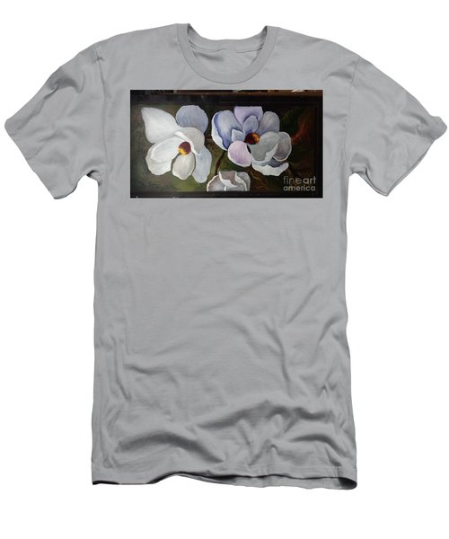 Magnolias White Flower Men's T-Shirt (Slim Fit)