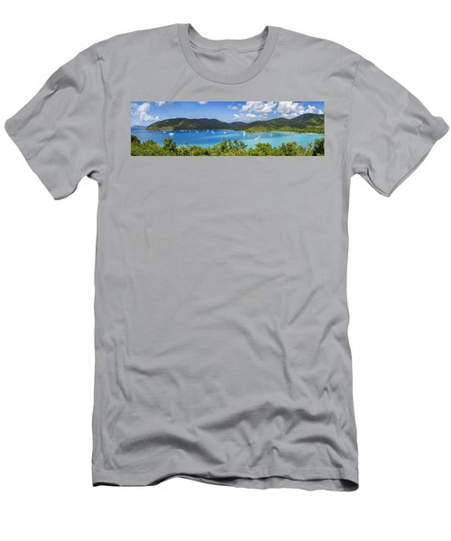 Men's T-Shirt (Slim Fit) featuring the photograph Maho And Francis Bays On St. John, Usvi by Adam Romanowicz