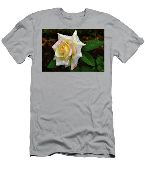 Men's T-Shirt (Slim Fit) featuring the photograph Maid Of Honour Rose 003 by George Bostian