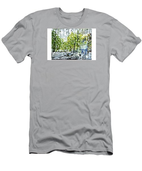 Main Street Snow Men's T-Shirt (Athletic Fit)