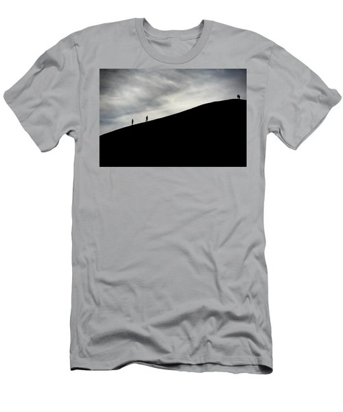 Men's T-Shirt (Athletic Fit) featuring the photograph Make The Climb by Pradeep Raja Prints