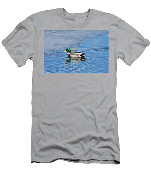 Men's T-Shirt (Slim Fit) featuring the photograph Male Mallard Duck by Michael Peychich
