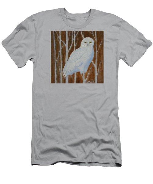 Male Snowy Owl Portrait Men's T-Shirt (Athletic Fit)