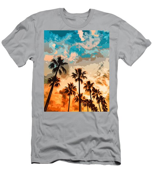 Malibu Beach - Heaven's Sky Men's T-Shirt (Athletic Fit)