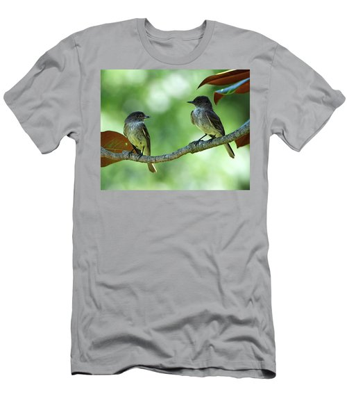 Mama And Papa Kingbird Men's T-Shirt (Athletic Fit)