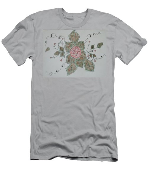 Men's T-Shirt (Slim Fit) featuring the drawing Mama Rose And Her Babies by Sharyn Winters