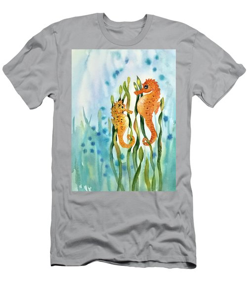 Mamma And Baby Seahorses Men's T-Shirt (Athletic Fit)