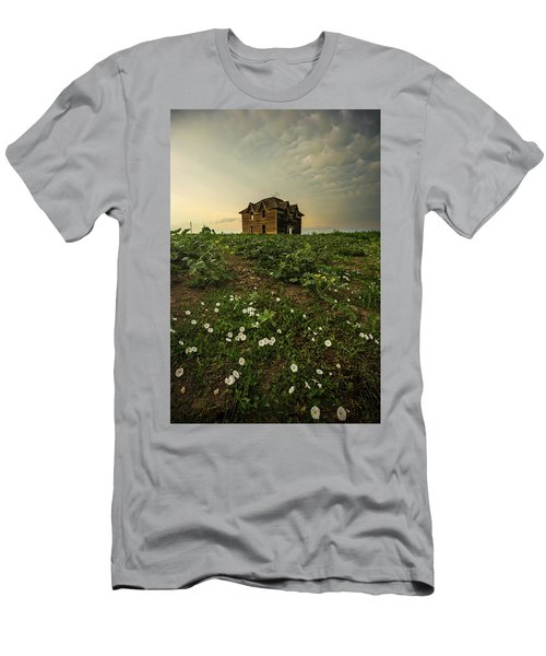 Men's T-Shirt (Athletic Fit) featuring the photograph Mammatus And Flowers  by Aaron J Groen