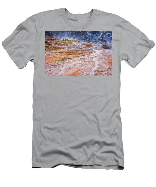Mammoth Terraces Of Yellowstone Men's T-Shirt (Athletic Fit)
