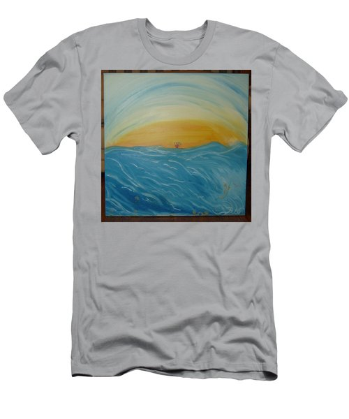 Man As Flower Men's T-Shirt (Athletic Fit)