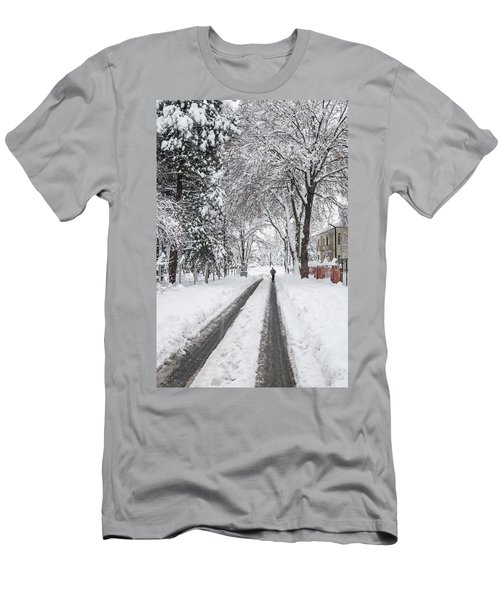 Man On The Road Men's T-Shirt (Athletic Fit)