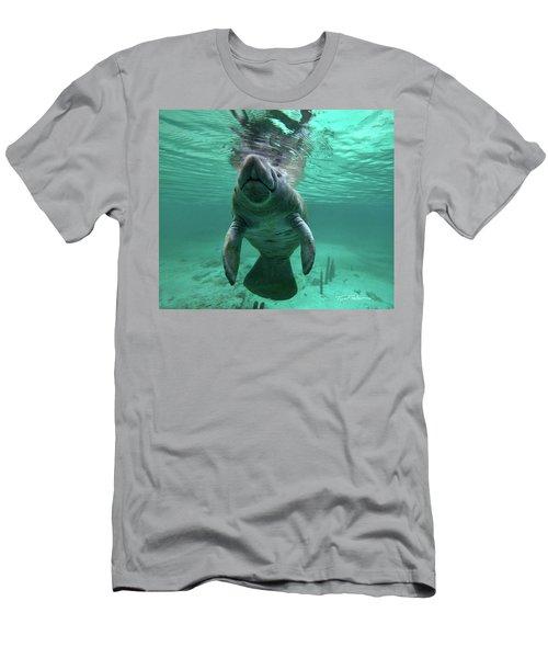 Manatee Breathing Men's T-Shirt (Slim Fit) by Tim Fitzharris