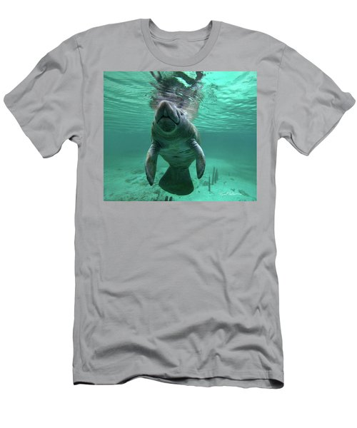 Manatee Breathing Men's T-Shirt (Athletic Fit)