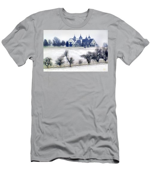 Manchester Farm In Winter Men's T-Shirt (Athletic Fit)
