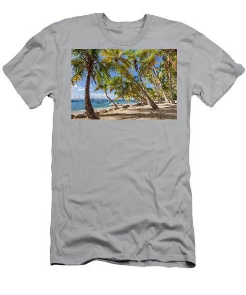 Men's T-Shirt (Athletic Fit) featuring the photograph Manchioneel Bay, Cooper Island by Adam Romanowicz