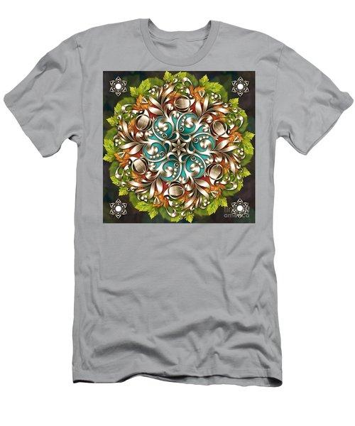 Mandala Metallic Ornament Men's T-Shirt (Athletic Fit)