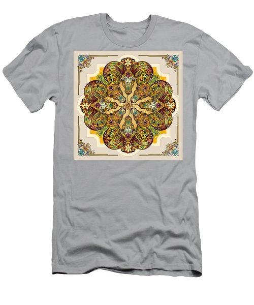 Mandala Sacred Rams - Bright Version Men's T-Shirt (Athletic Fit)