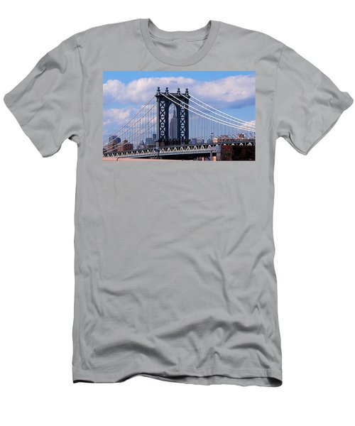 Manhattan Bridge Framing The Empire State Building Men's T-Shirt (Athletic Fit)