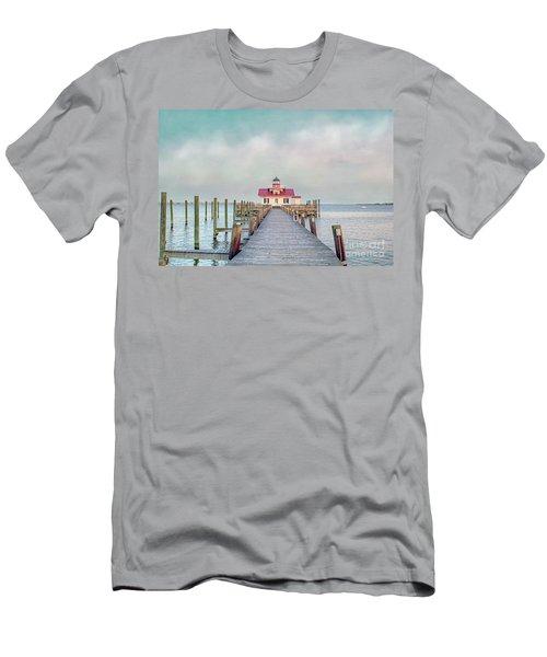 Manteo Lighthouse Men's T-Shirt (Slim Fit) by Marion Johnson